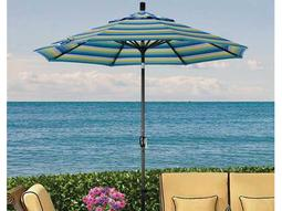 Dayva Monterey Aluminum 9' Octagon Push-Button Tilt Black Frame 2 Piece Pole Umbrella