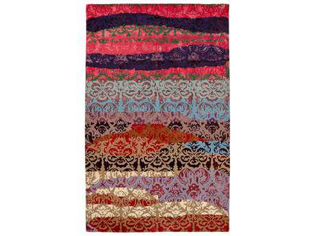 Dynamic Allure Transitional Pink Hand Made Wool Abstract 2' x 4' Area Rug - AL241992767