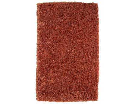 Dynamic Venetian Modern Orange Hand Made Synthetic Solid 3' x 5' Area Rug - VE352500750