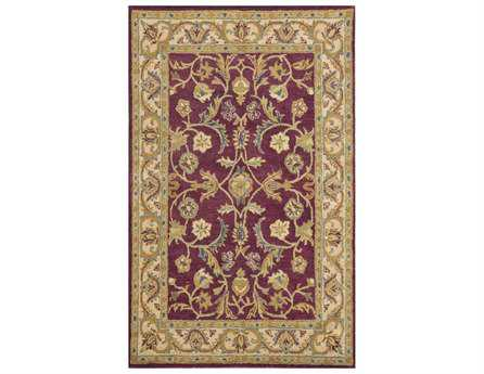 Dynamic Sapphire Traditional Red Hand Made Wool Floral/Botanical 2' x 4' Area Rug - SC244950313