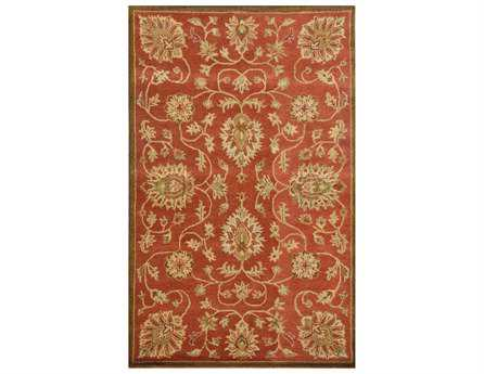 Dynamic Sapphire Traditional Orange Hand Made Wool Floral/Botanical 2' x 4' Area Rug - SC244992288