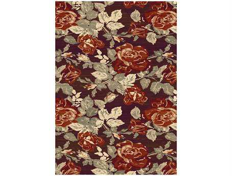 Dynamic Opus Transitional Red Machine Made Synthetic Floral/Botanical 2' x 3'6'' Area Rug - OP247715389