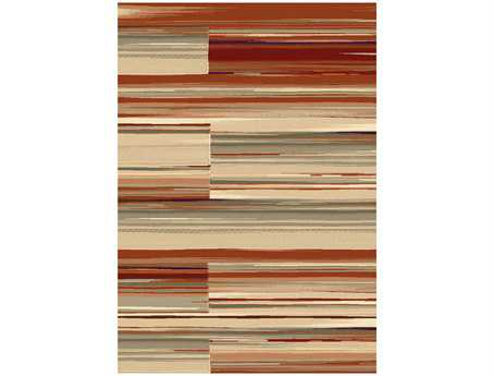 Dynamic Opus Modern Red Machine Made Synthetic Abstract 2' x 3'6'' Area Rug - OP247778399