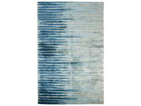 Dynamic Vogue Modern Blue Hand Made Wool Abstract 2' x 4' Area Rug - VO24881002516