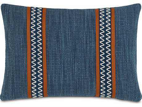 Eastern Accents Indira Gilmer Indigo with Border Accent Pillow