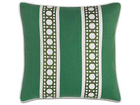 Eastern Accents Lanai Breeze Kelly with Border Accent Pillow