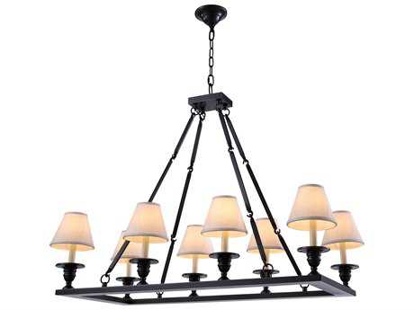 Elegant Lighting Franklin Bronze Eight-Lights 38'' Long Island Light