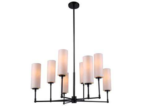 Elegant Lighting Richmond Bronze Eight-Lights 34'' Wide Chandelier