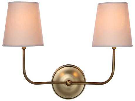 Elegant Lighting Lancaster Burnished Brass Wall Sconce