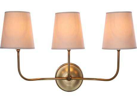 Elegant Lighting Lancaster Burnished Brass Two-Lights Wall Sconce