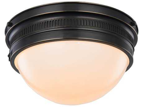 Elegant Lighting Pria Bronze Two-Lights 12.5'' Wide Flush Mount Light