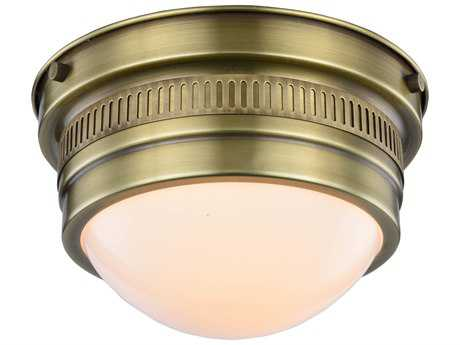 Elegant Lighting Pria Burnished Brass 8.5'' Wide Flush Mount Light