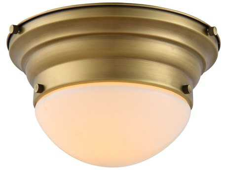Elegant Lighting Daisy Burnished Brass 9.5'' Wide Flush Mount Light