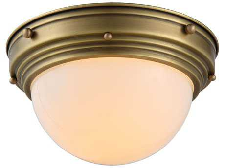 Elegant Lighting Jade Burnished Brass 10'' Wide Flush Mount Light
