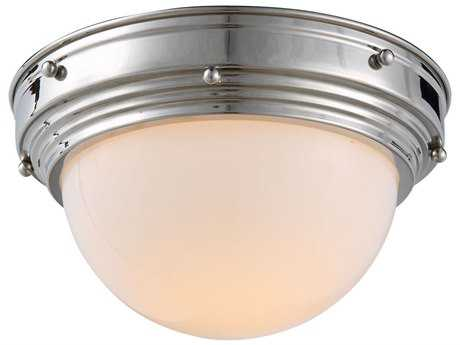 Elegant Lighting Jade Polished Nickel 10'' Wide Flush Mount Light