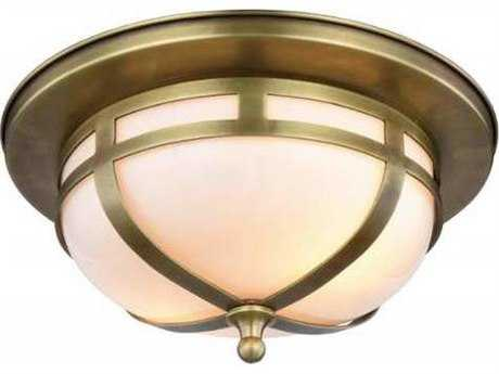 Elegant Lighting Bella Burnished Brass Two-Light 11'' Wide Flush Mount Light
