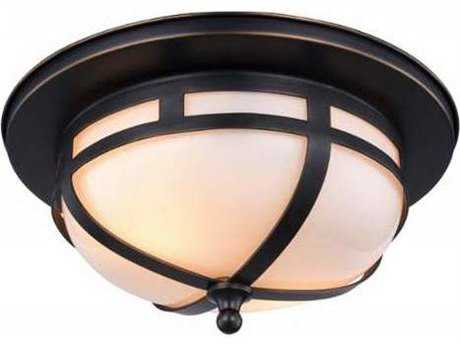 Elegant Lighting Bella Bronze Two-Light 11'' Wide Flush Mount Light