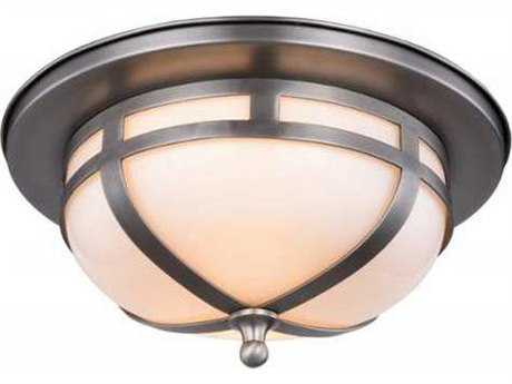 Elegant Lighting Bella Vintage Nickel Two-Light 11'' Wide Flush Mount Light