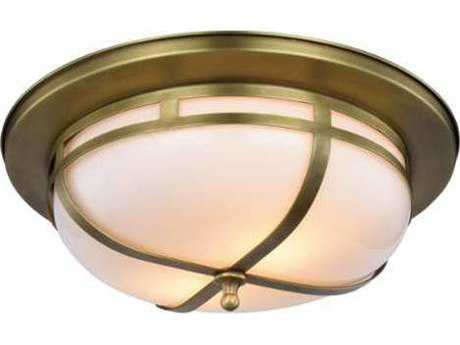Elegant Lighting Bella Burnished Brass Two-Light 15'' Wide Flush Mount Light