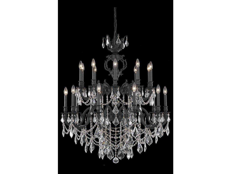 Elegant Lighting Marseille Royal Cut Dark Bronze & Crystal