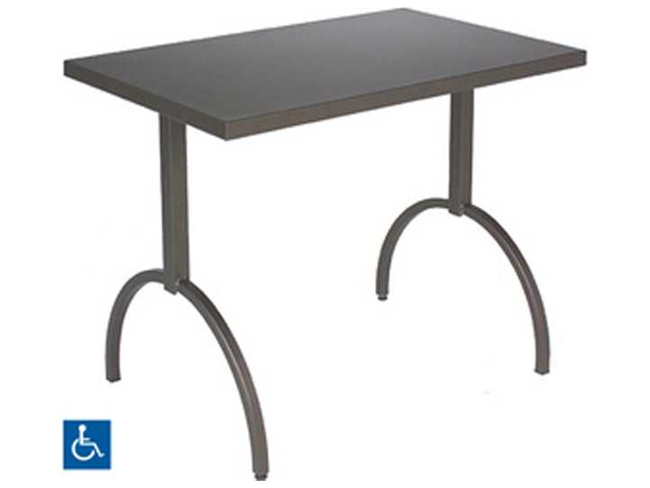 emu segno steel 38 x 24 rectangular dining table 3521