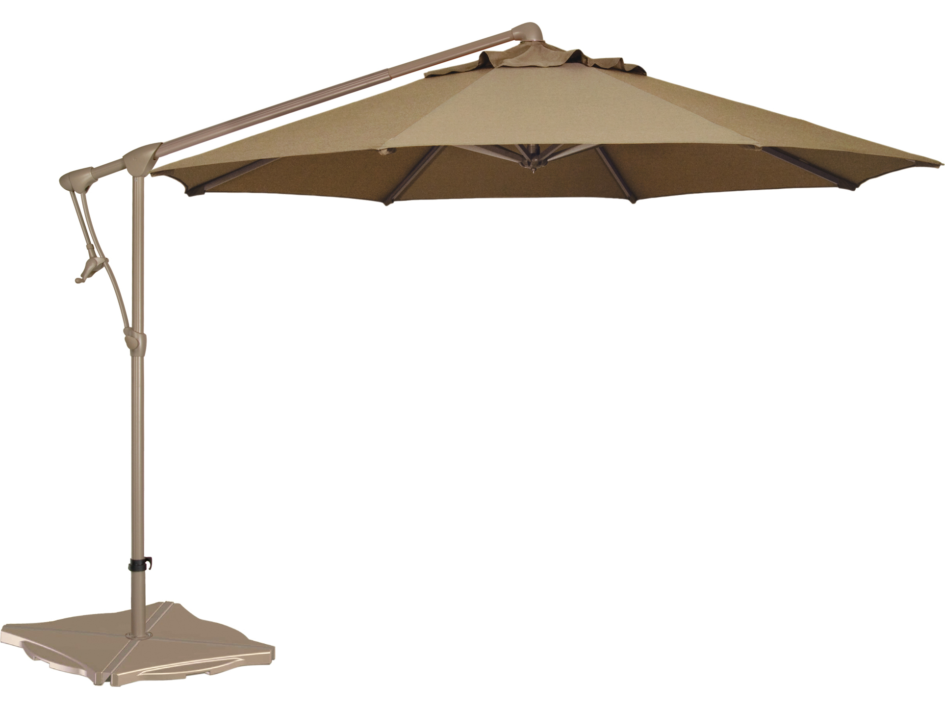treasure garden cantilever aluminum 10 39 octagon tilt lock offset umbrella ag19