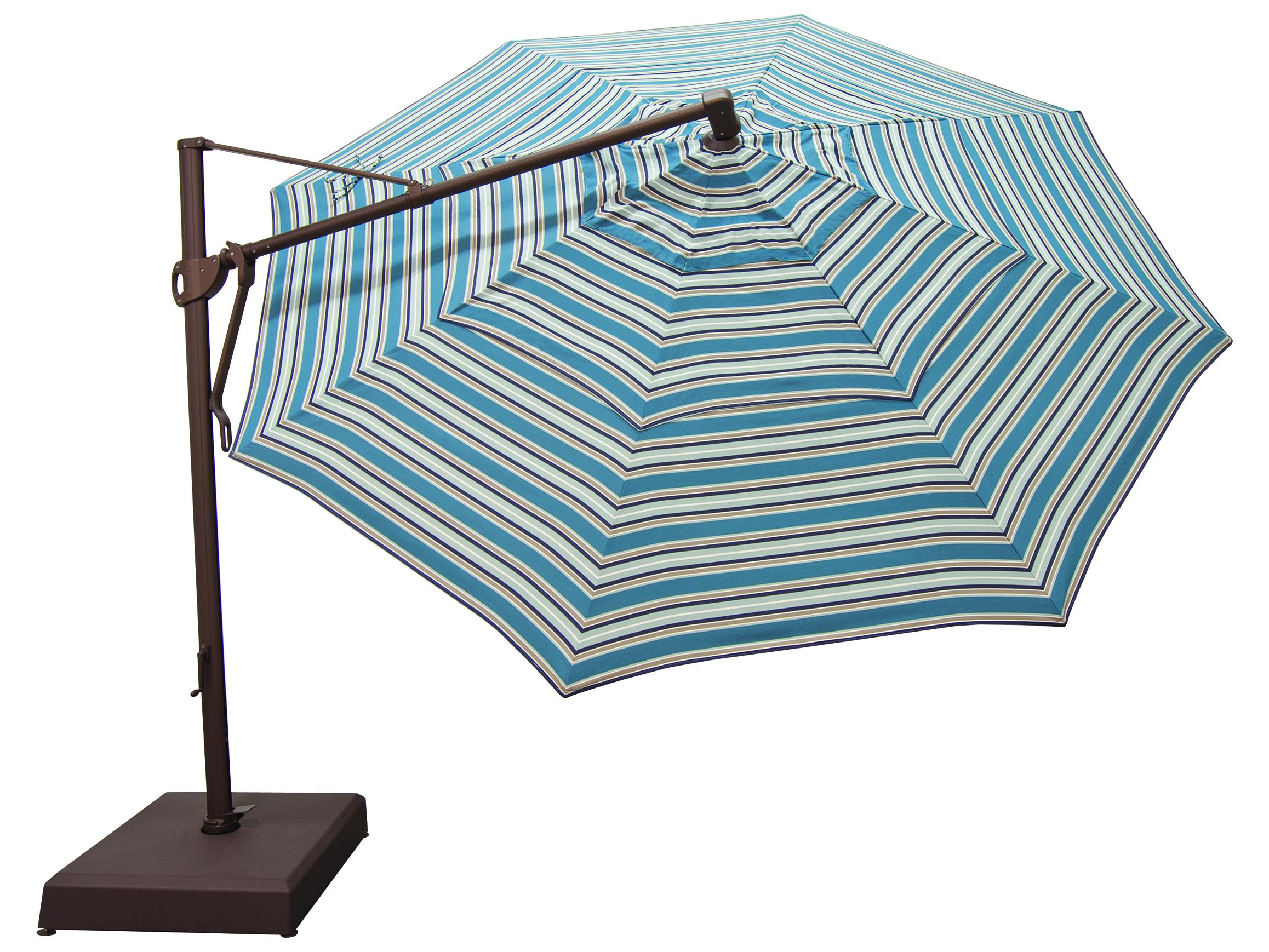 Treasure Garden Cantilever Aluminum 13 Foot Wide Crank Lift Tilt Lock Umbrella Akz13