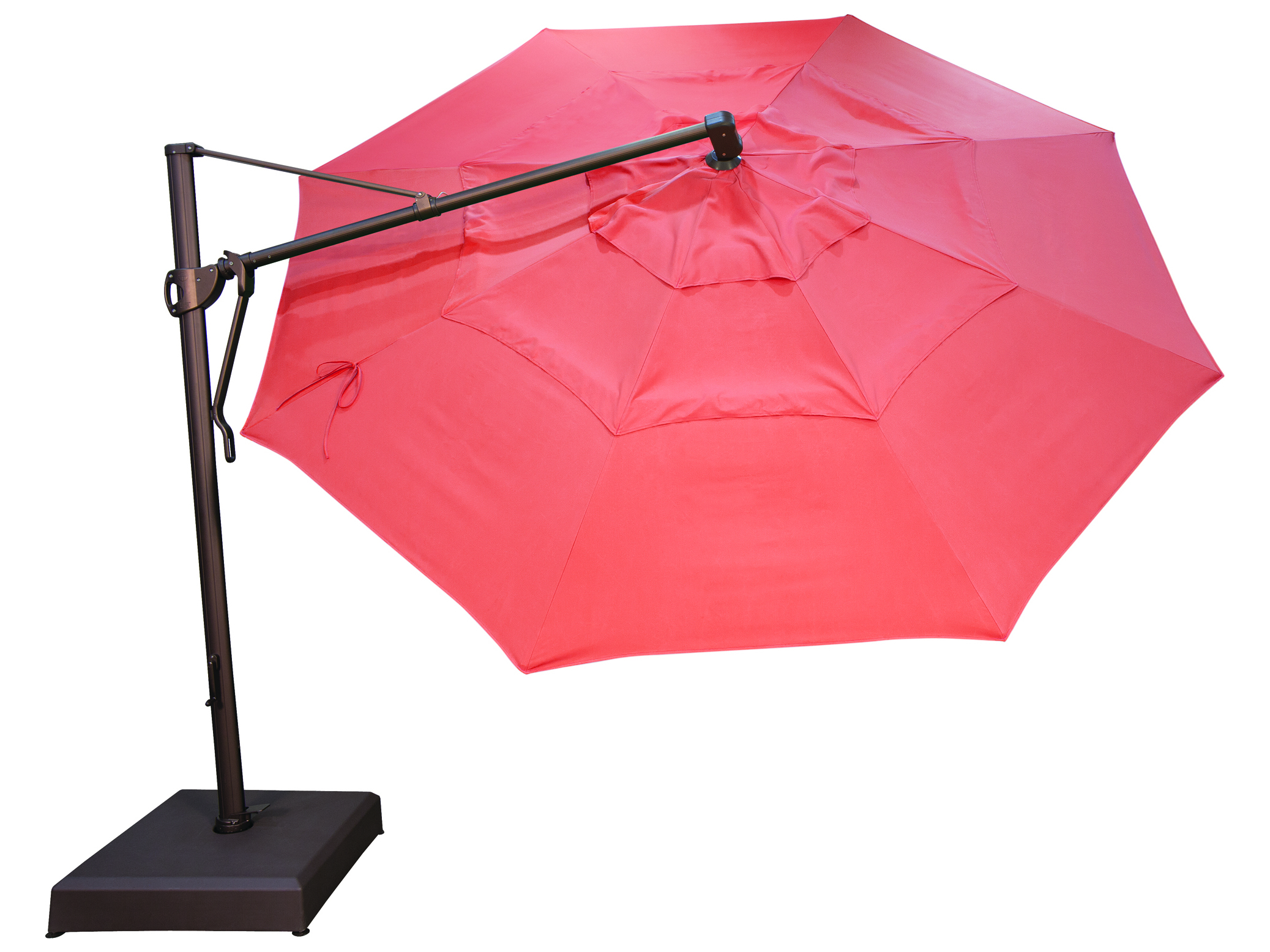 treasure garden cantilever aluminum 13 foot wide crank lift tilt lock umbrella akz13
