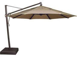Treasure Garden Quick Ship Cantilever Aluminum 13 Foot Wide Crank Lift Tilt & Lock Umbrella