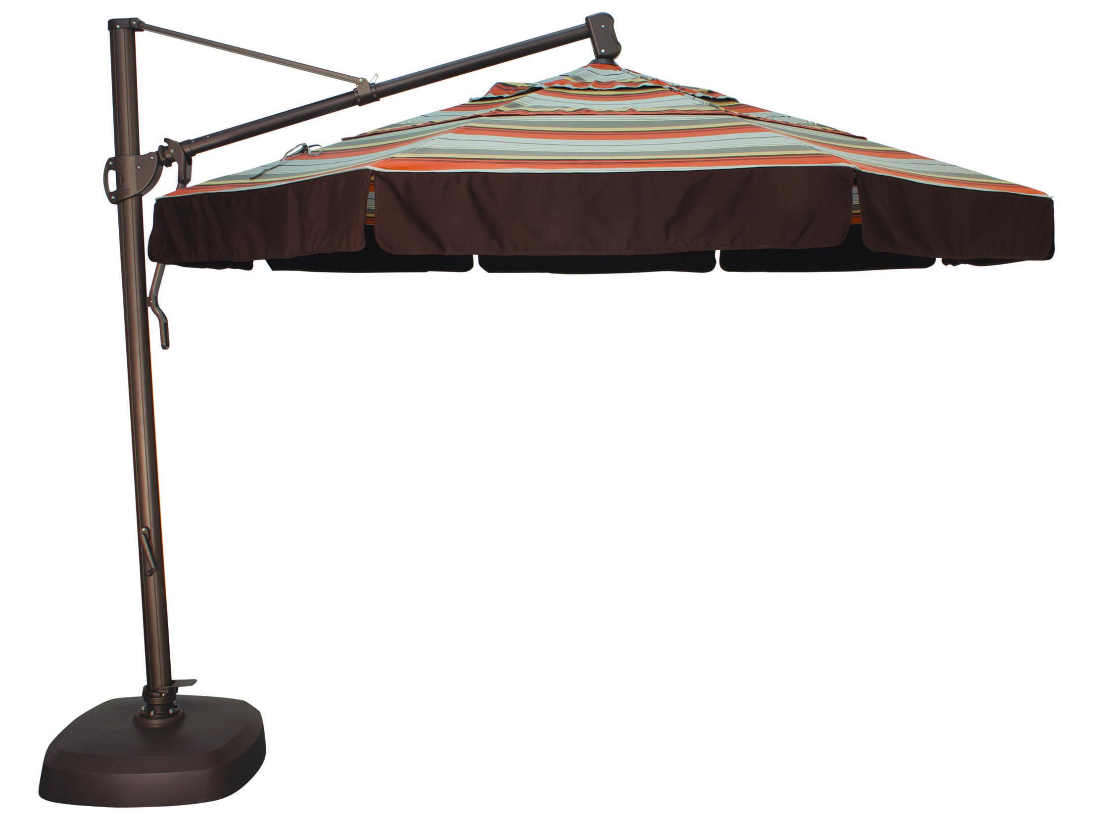 Treasure Garden Cantilever Aluminum 11 39 Foot Wide Crank Lift Tilt Lock Umbrella Akz