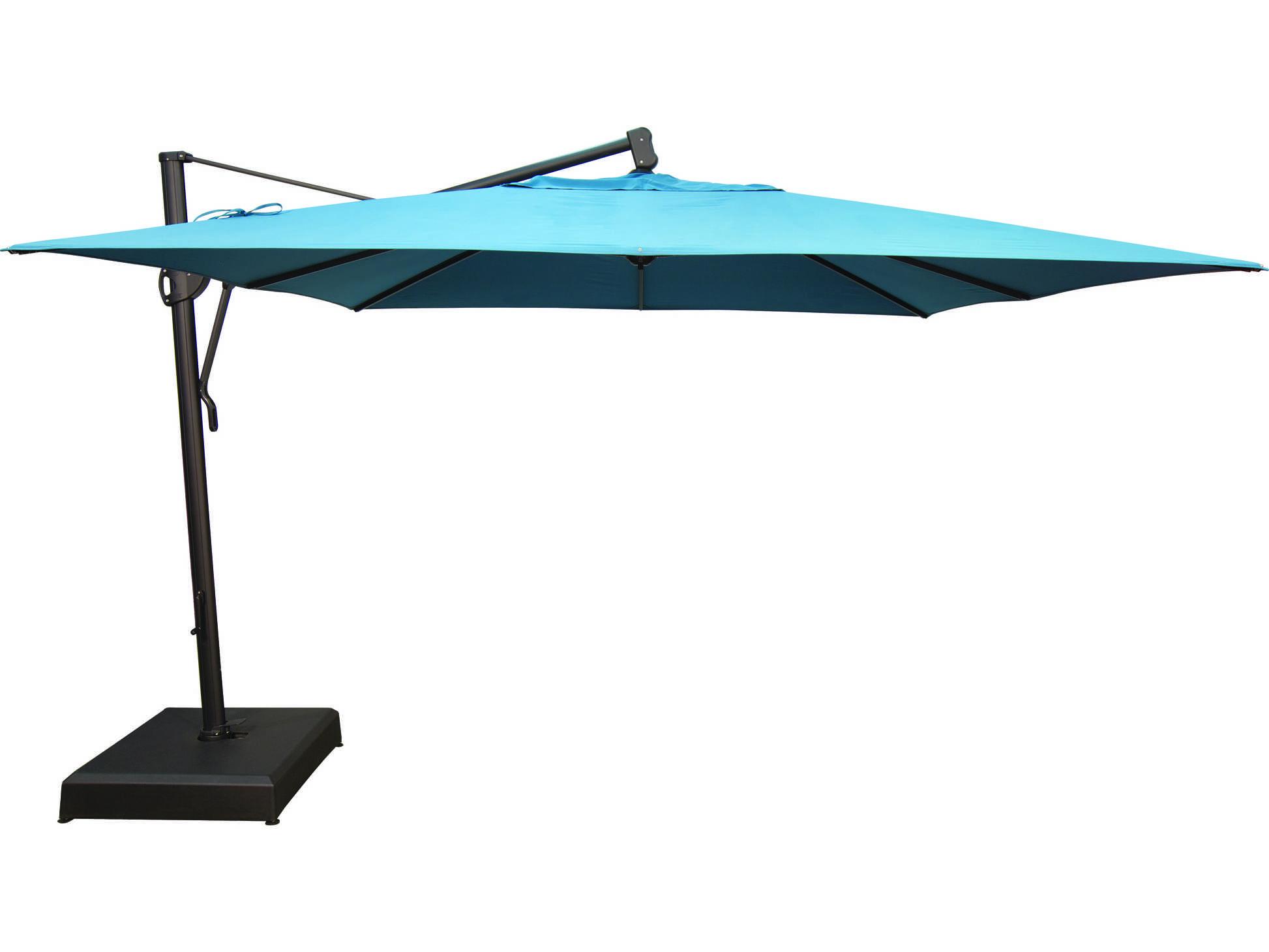 Treasure Garden Cantilever Aluminum 11 5 Foot Wide Umbrella Akzsq11