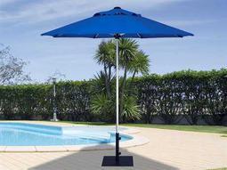 Treasure Garden Commercial Aluminum 7.5' Feet Wide Push Up Lift Umbrella