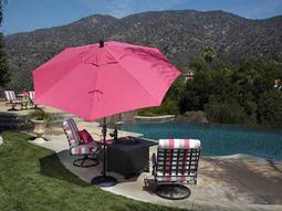 Treasure Garden Market Aluminum 9' Octagon Collar Tilt Crank Lift Umbrella