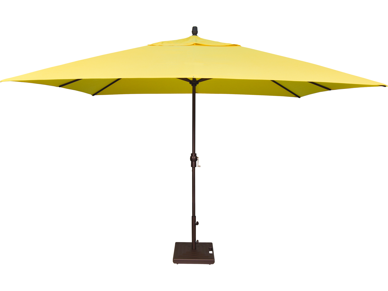 Treasure Garden Market Aluminum 8 39 X 11 39 Crank Lift Rectangular Umbrella Um8811rt
