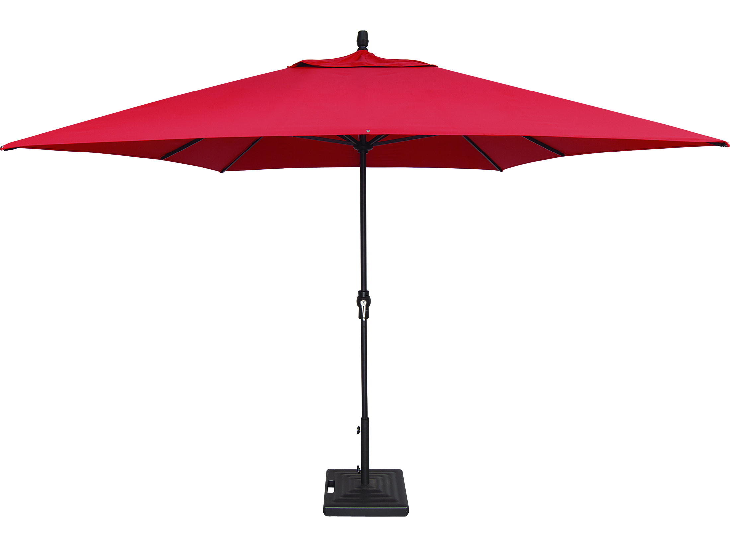 Treasure Garden Market Aluminum 8 X 11 Crank Lift Rectangular Umbrella Um8811rt