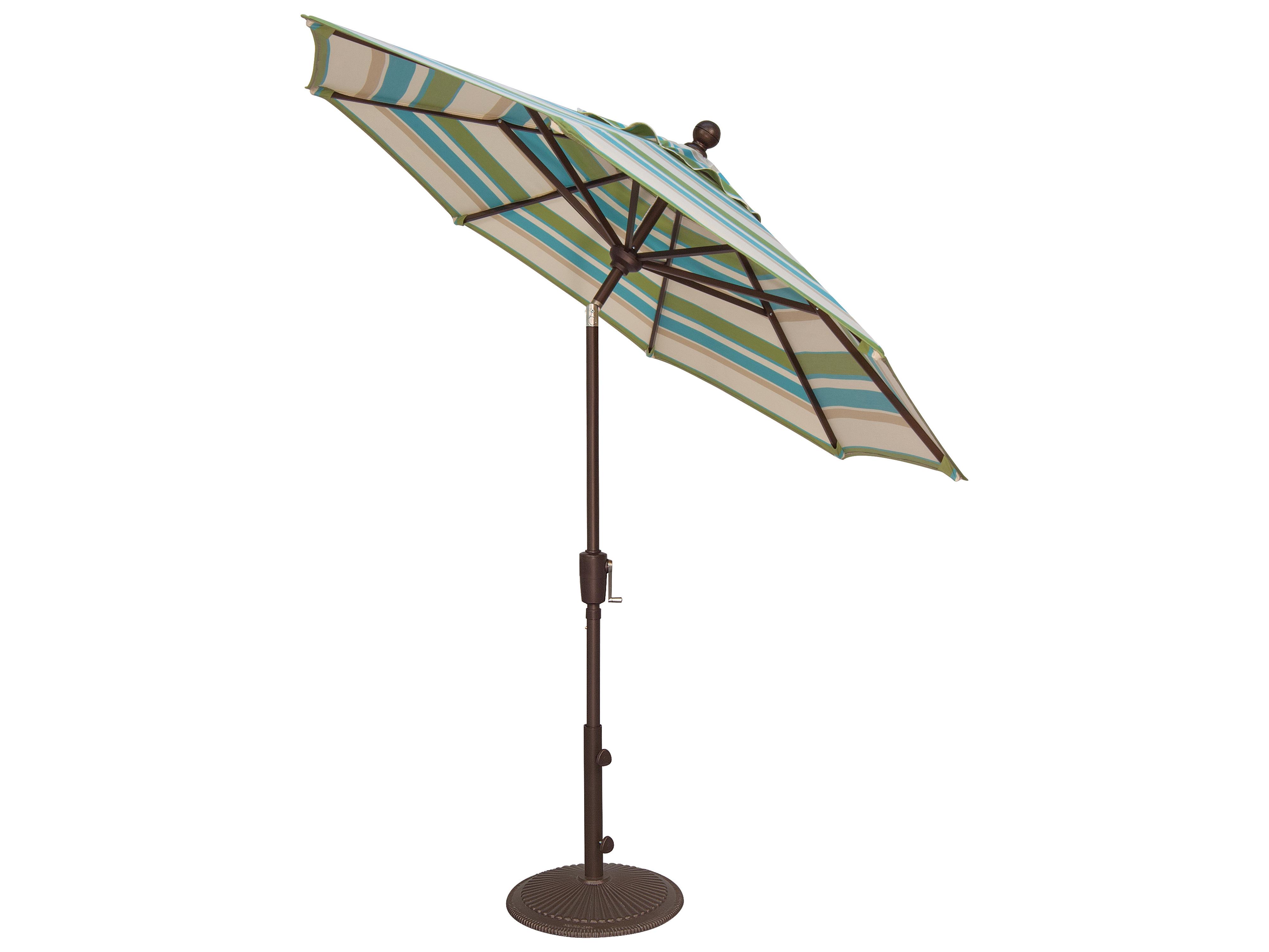 Garden Umbrella Base Wickes: Treasure Garden Market Aluminum 7.5' Octagon Push Button