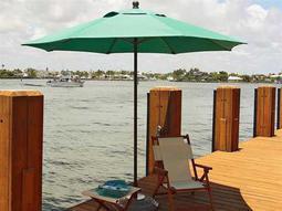 Fiberbuilt Lucaya 11' Octagon Pulley Aluminum Umbrella