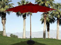 Fiberbuilt Palm FiberTeak 11' Leaf Pulley Wood Umbrella
