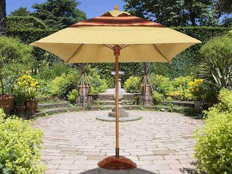 Fiberbuilt Augusta FiberTeak 6' Square Wood Umbrella