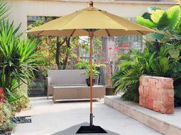 Fiberbuilt Bridgewater FiberTeak 9' Octagon Wood Umbrella