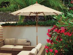 Fiberbuilt Wood 9' Octagon Pulley Wood Umbrella