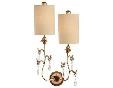 Flambeau Tivoli Gold Two-Light Left Wall Sconce