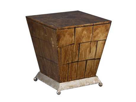 Flambeau Lemoyne 18 Square Gold Accent End Table