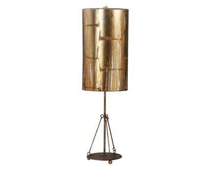 Flambeau Flagstone Silver Buffet Lamp