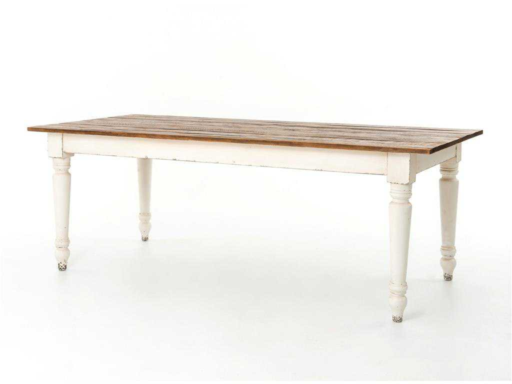 Four hands hughes 87 x 40 rectangular bleached pine for Dining table tj hughes