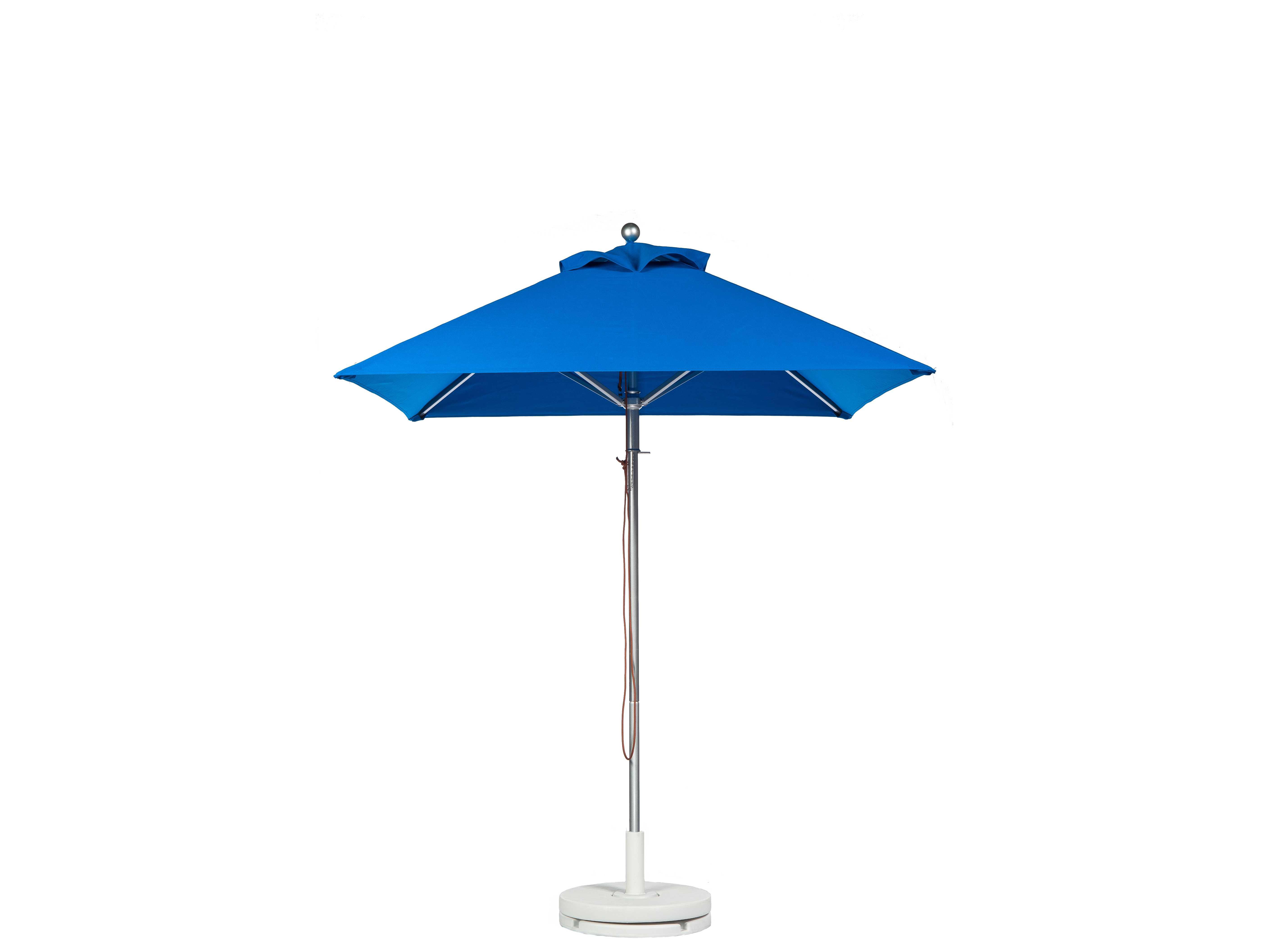 frankford greenwich aluminum market 6 5 foot wide square pulley lift umbrella 454cam. Black Bedroom Furniture Sets. Home Design Ideas