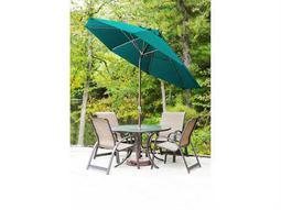 Frankford Monterey Fiberglass Market 7.5 Foot Wide Square Crank Auto Tilt Umbrella