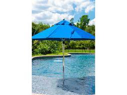 Frankford Monterey Fiberglass Market 7.5 Foot Wide Octagon Pulley Lift Umbrella