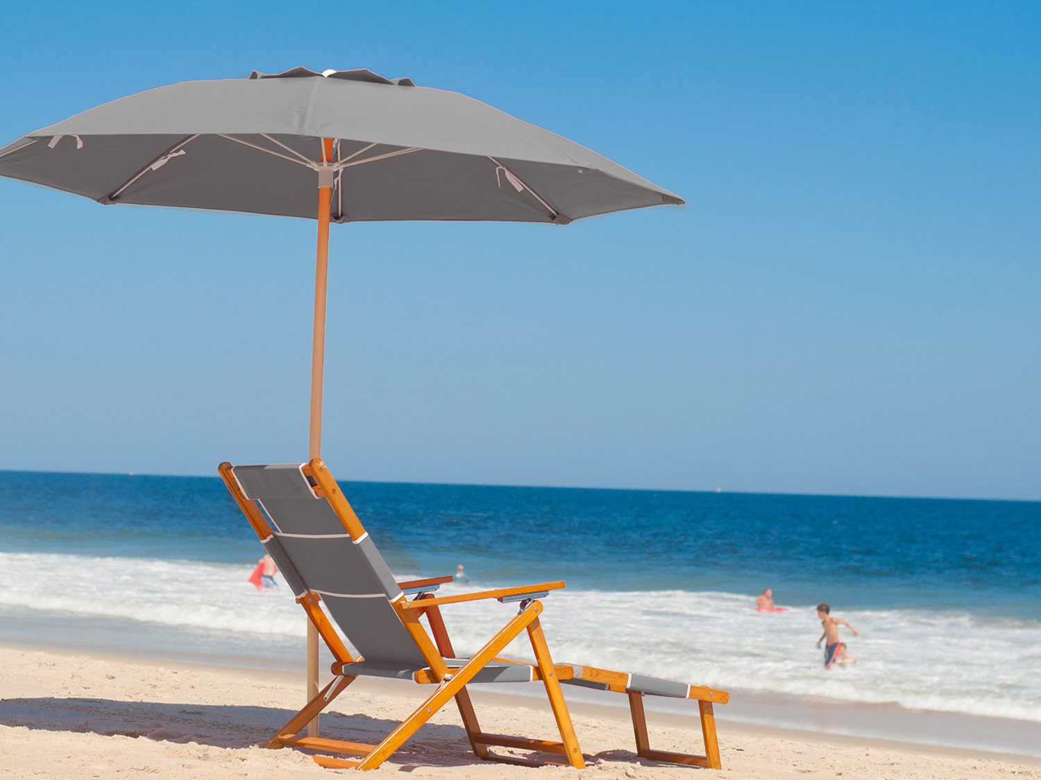Beach Chair And Umbrella Set