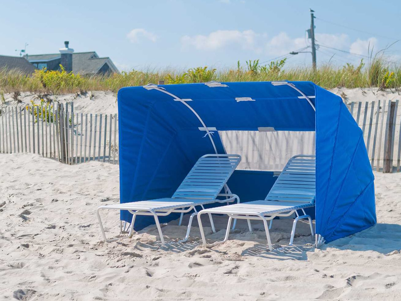 Beach Tents Cabanas : Frankford umbrellas folding beach cabana cb